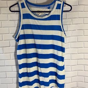 Current/Elliott Striped Cutaway Tank Top Size 0